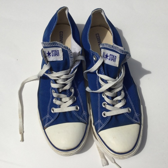 14bcaf533f4 Converse Shoes | All Star Low Tops Skydiver Blue Sneakers | Poshmark